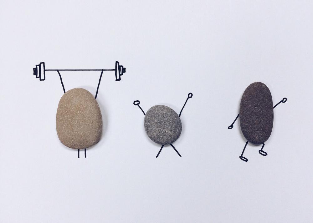 Stenar som tränar